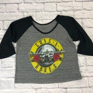 Guns N Roses crop vintage shirt. Size L